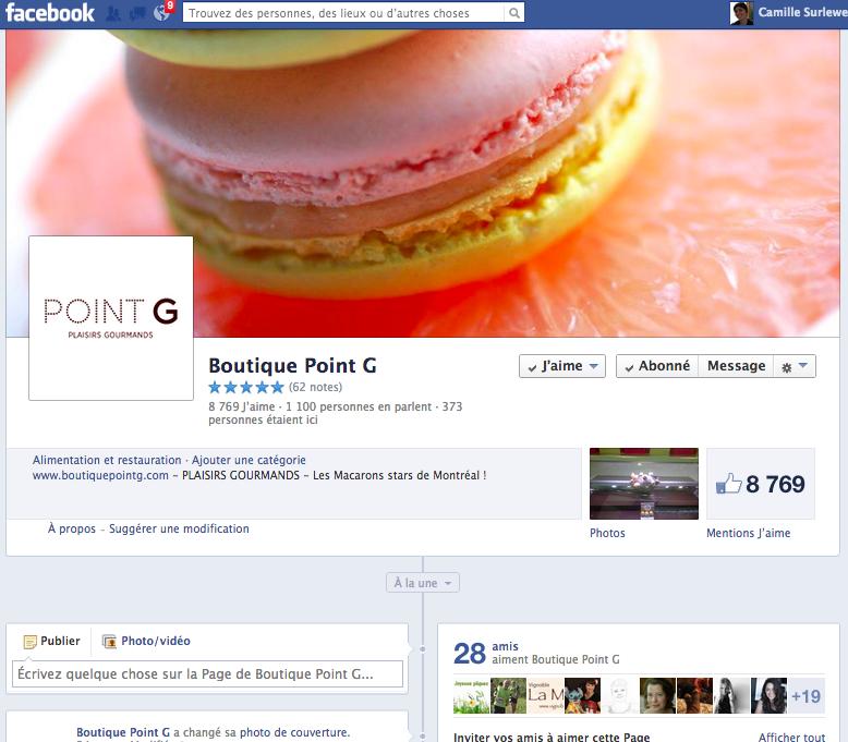 Page entreprise Facebook, les utilisateurs peuvent noter les entreprises.