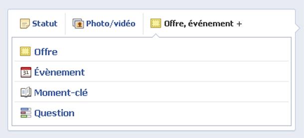 Il était possible de faire des sondages en 2012 sur la page entreprise Facebook